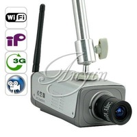 Free Shipping 3G IP Camera Box Camera Wireless Motion Security System CDMA2000 3G Alarm, 32GB SD Card included as gift