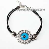 Crystals Evil eye bracelet 10pcs/bag