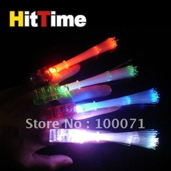 10Pcs/lot Bright LED Finger Ring Light Dance Disco Party Glow Rave Fiber [11439|01|10](China (Mainland))