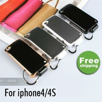 1800mah Power Bank Rechargable Battery Charger + Prtective Fashion Back Cover Case for iPhone 4s