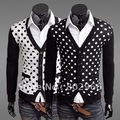 Free shipping!2012 Hitz Mens Korean Slim cardigan V neck formal sweaters cardigan men,8004-cn