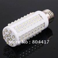 Wholesale!!! Promotion New 1Pcs E27 108 LED Light 110V / 220V 7W 360 degree Spotlight Ultra Bright Corn Bulb Lamp +Free Shipping