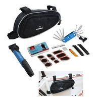 Black Multi-function Cycling Bicycle tools Bike repair kits Set with Pouch Pump free ship