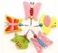 Free Shipping, Wooden Hook with Cartoon Animal for Clothes/Bag/Baby's Toy, 25pcs/lot(China (Mainland))