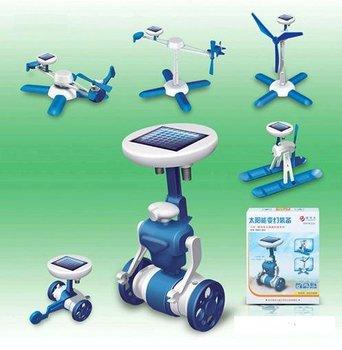 Retail Fashion Solar Robots 6 In 1 Educational DIY Solar Kits,Solar Toys,Christmas Gifts (SX-66)