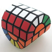 Black MF8 SSQ Cylinder Super Square SQ Column Plastic Magic Cube Twist Puzzle(Column 4-Layer )