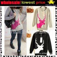 50%discount!woolen round collar knitwear,weave sweater, women clothes, christmas women lovely deer long sweater (NXL002-2)