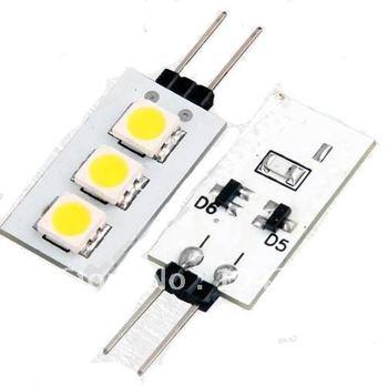 G4 Warm White 3 5050 SMD LED Cabinet Spotlight Spot Light Lamp Bulb 10pcs/lot Free Shipping