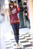 lowest price,wholesale!! collar knitwear,weave sweater, women clothes, christmas women lovely deer long sweater (NXL004-3)