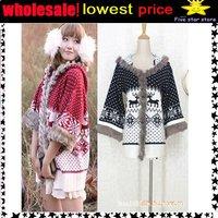 50%discount!collar knitwear,weave sweater, women clothes, christmas women lovely deer long sweater (NXL005-1)