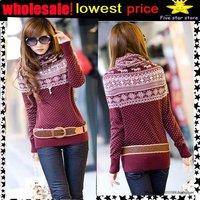 lowest price,wholesale!! collar knitwear,weave sweater, women clothes, christmas women lovely deer long sweater (NXL004-1)
