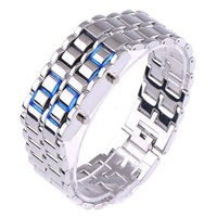 Digital Lava Style Minimalist Blue LED Sports Watch