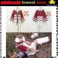 wholesale,lowest price!!collar knitwear,weave sweater, women clothes, christmas women lovely deer long sweater (NXL005-4)