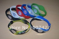 Best quality Hot selling ! 100pcs/lot  Bracelet Bands Wristbands,Silicone  hologram Bracelet