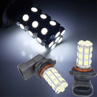 White LED 27 SMD 5050 Bulbs H10 9005 HB3 Fog Day Light Lamp Flash Explosion Free Shipping