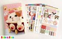 New 8 pcs/set cute cats designs paper / pvc sticker / Decorative Label / Multifunction / Wholesale