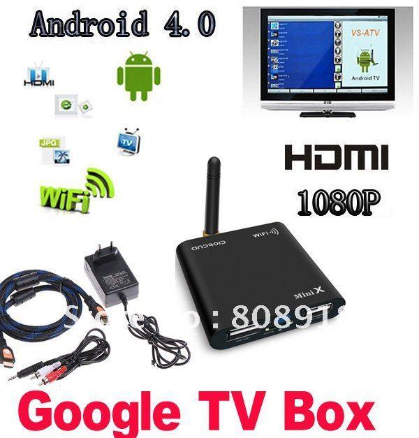 Allwinner A10 1.5 GHZ Mini Android 4.0 HD 1080P Smart GOOGLE TV BOX Media Player WIFI HDMI USB AV TF Black(China (Mainland))