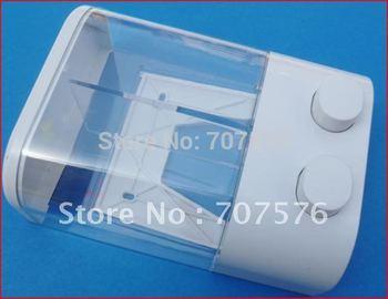 Wholesale + Low Freight  European - style Double box soap dispenser TSD19 Titanium White Capacily:2*450ml