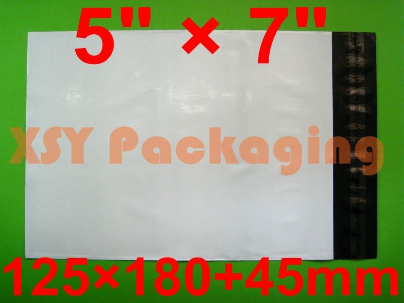 "GOOD BULK PRICE 100 PCS 5"" x 7""_125 x 180+45mm White Poly Envelopes Mailing Bags(China (Mainland))"
