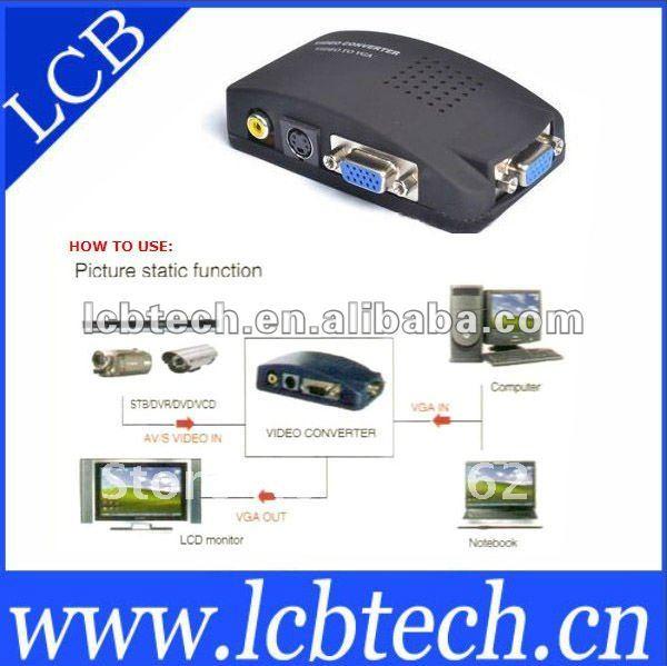 Wireless Singal Video Converter AV to VGA FREE SHIPPING(China (Mainland))