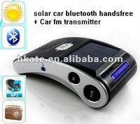 10pcs car / auto Bluetooth handsfree kit solar powered + driver lover sunvisor mp3 player fm transmitter fm modulator  AT-B022D