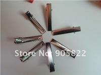 500pcs/lot+5.6*0.7cm Silver stone hair clips metal Single Prong teeth clips handwork DIY craft hair accessory(JZ004)