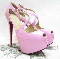 2012 sandals, Exagona 160mm kid leather pink platforms sky high heel platforms pumps womens shoes