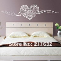 18 Colors to Choose Free Shipping Home Decor Self-Adhesive Heart Pattern Wall Sticker, Wholesale & Retail