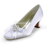Туфли на высоком каблуке EP11099 Pretty Ivory Almond Toe High Heel Flower Lace Wedding Bridal Shoes Women Pumps