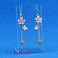 Free Shipping 5 High Quality Clear View Acrylic Earring Necklace Display Stand 120709YB-ES07