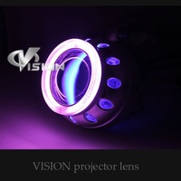 "G265 upgrade Mini  2.5""inch  two angle eyes bi xenon projector lens hid headlights"