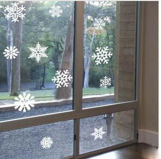 Free shipping Flying snow winter Christmas Eve glass door sticker sticker ideas decoration wall sticker