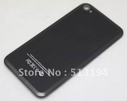 Black Hot Beveled Metal Replacement Back Cover housing Battery Door for iPhone 4 Free Shipping(China (Mainland))