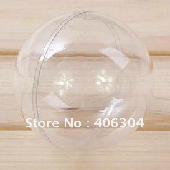 Free shipping,8cm transparent hanging christmas ball/baubles,clear plastic christmas ornaments(China (Mainland))