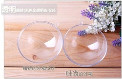 Free shipping,15.5cm transparent hanging christmas ball/baubles,clear plastic christmas ornaments,shop window display(China (Mainland))