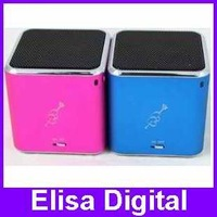 wholesale new original MUSIC ANGEL MD07D mini speaker multimedia Speaker support TF card with FM In retail package box,RY9004