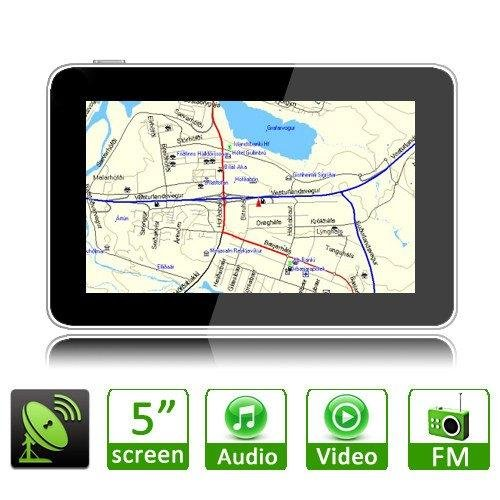"S5H 5"" LCD Touch Screen FM Free Map Sat Nav Car MP4 MP3 GPS Navigation Navigator(China (Mainland))"