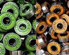 2012 HOT ! 22*8*7mm Carbon Steel ABEC-9 608Z Drift Skateboard Bearings for Roller Skates &amp; Color Random