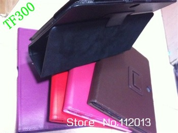 PU Leather Stand Case cover For Asus Eee Pad Transformer TF300 TF300T CASE ; DHL FAST SHIPPING ;