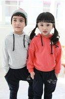 Free Shipping Wholesale 2012 Children Autumn dress Sweater  Sport Suit  Baby  Hoodis T-shirt +Pant 5sets/lot