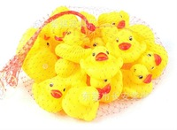 Free shipping Wholesale 20pcs/lot Baby Bathing Bath Tub Toys Mini Rubber Race Squeaky Float Duck Yellow 5cm