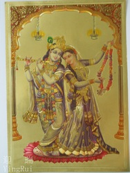 3D pictures,religous golden paintings,Gold foil Indian God pictures ,home decoration(China (Mainland))