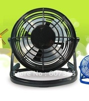 Free shipping  360-degree rotating ultra quiet USB fan black