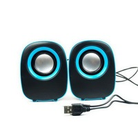 Free Shipping Wholesale Portable a pair of Home 3D Audio Compact Mini Box Speakers for PC Laptop Mobile MP3 iPod DVD E02050023