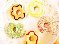 20pcs/lot Free Shipping 5cm Doughnut Squishy Mixed Mobile Phone Straps Squishies Cell Phone Accessories Wholesale Price #0006