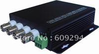 CCTV Video Optical Transceiver-4 Channels video optical digital converter( transmitter/receiver),4Video and 1Data