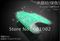 918 3mm green Crystal Bling Rhinestone Car auto Decoration Sticker decal