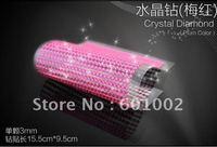918 3mm plum color Crystal Bling Rhinestone Car auto Decoration Sticker decal