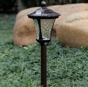 Wholesale sales of stainless steel solar lawn light, solar garden lights, solar lights (shining without electric) 2pcs/lot(China (Mainland))
