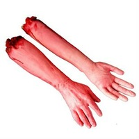 Halloween haunted house prop lifelike bar supplies those trick terrorist broken finger hand blood Free Shipping